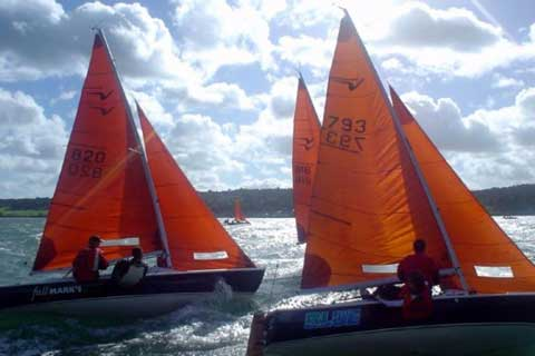 Squibs racing at Royal North of Ireland Yacht Club during the Irish Helmsmans Championships